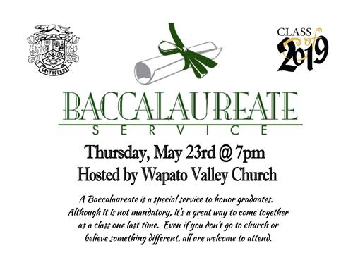 degree over the word baccalaureate with event details